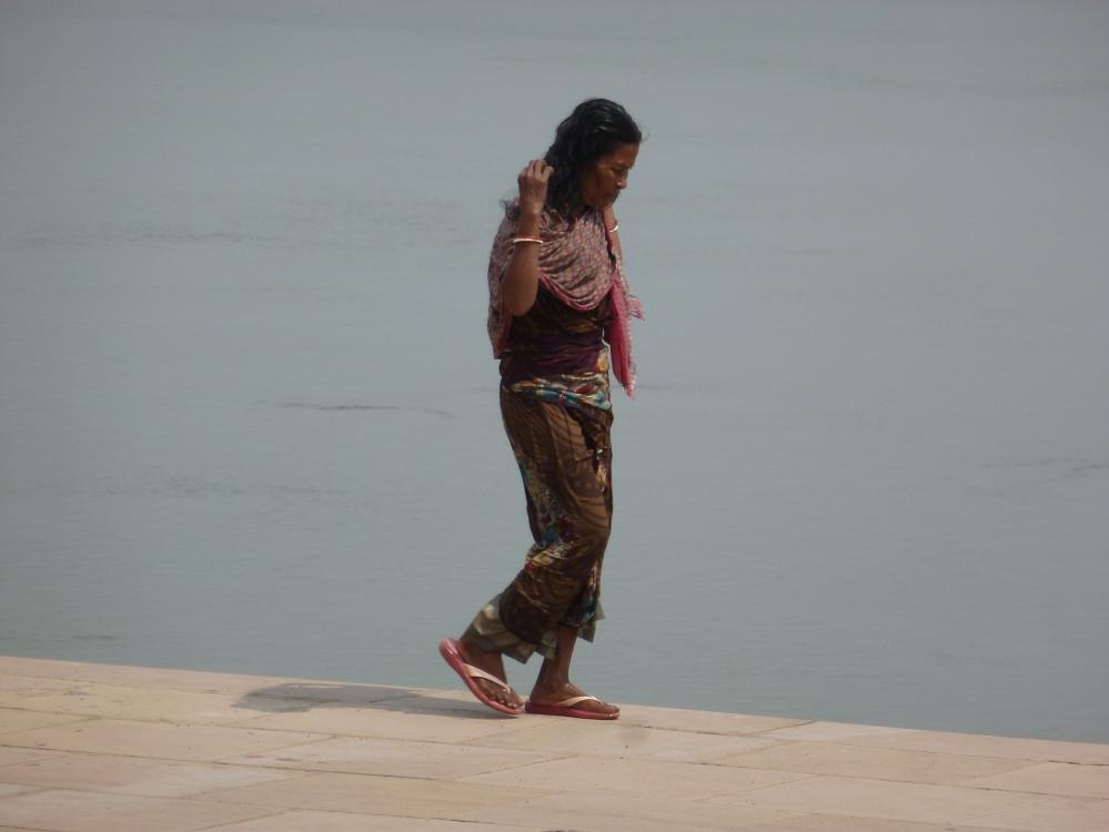 Inde Varanasi promenade