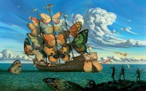 ImAGE Bateau papillons