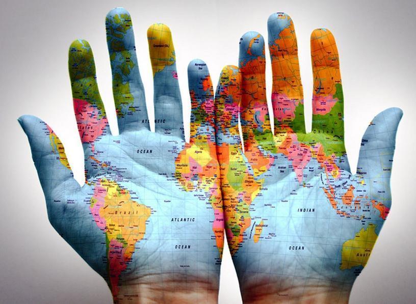 mains du monde