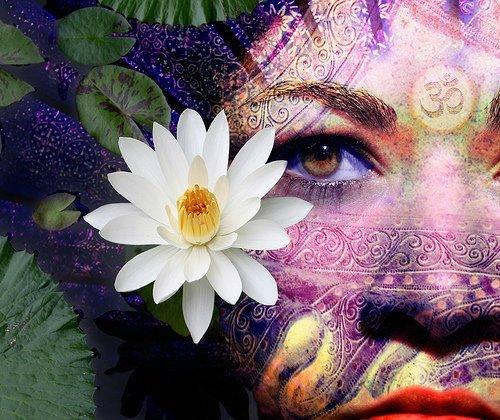 Visage lotus om