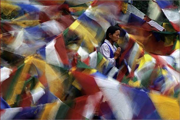 Tibet Drapeaux de prière