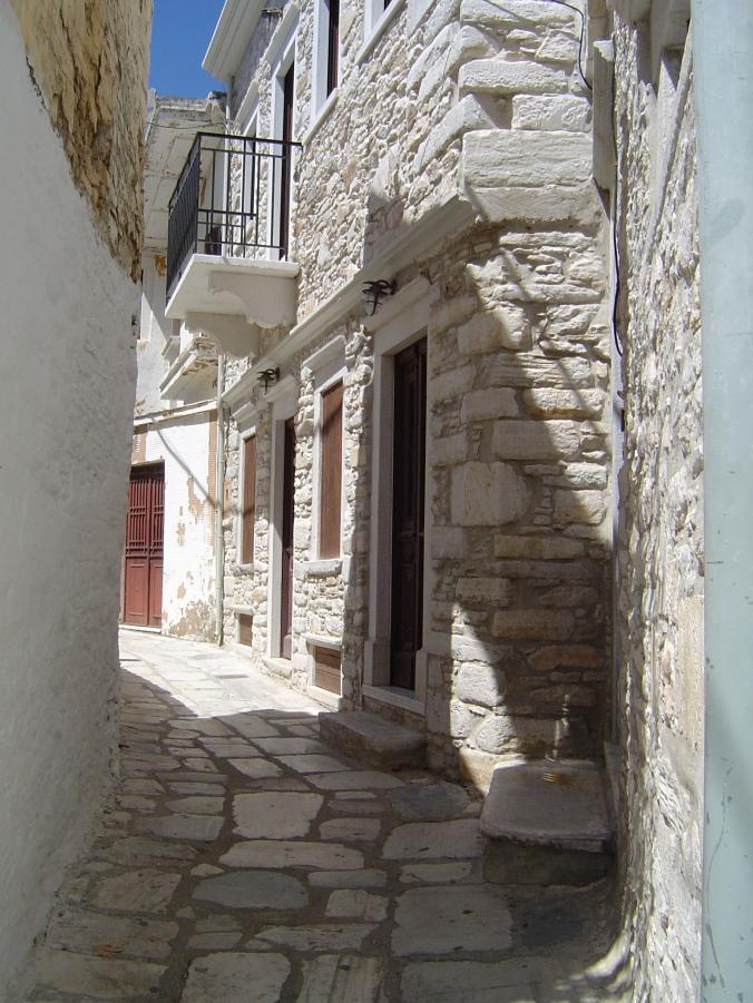 ILE DE NAXOS, Village d'Apirathos (3)