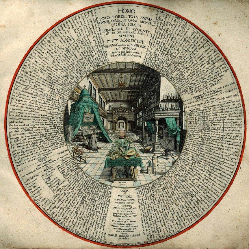 Image-Amphitheatrum_sapientiae_aeternae_-_Alchemist's_Laboratory_with_text
